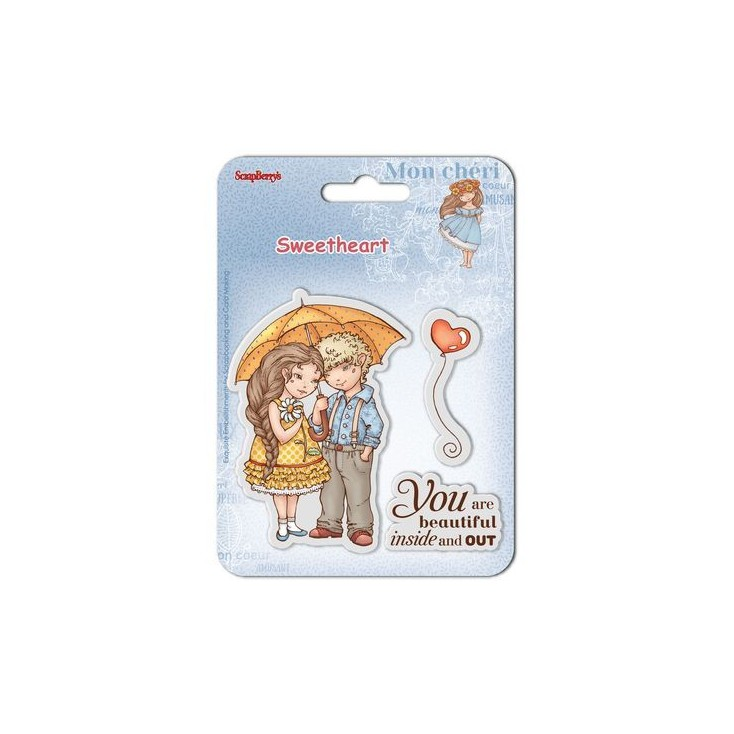 Scrapberry's - Set of clear rubber stamps - Sweetheart No. 1