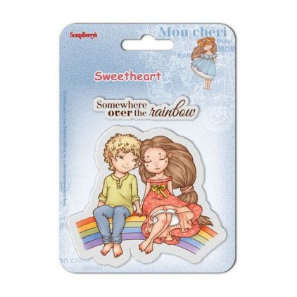 Scrapberry's - Set of clear rubber stamps - Sweetheart No. 4