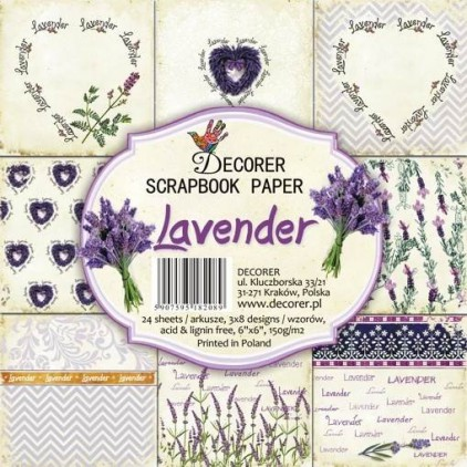 Decorer - Set of scrapbooking papers - Lavender