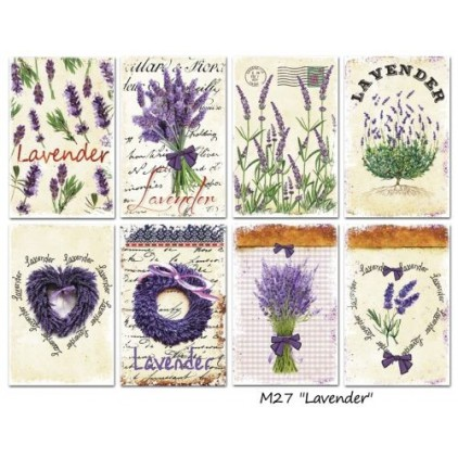 Decorer - Set of mini scrapbooking papers - Lavender