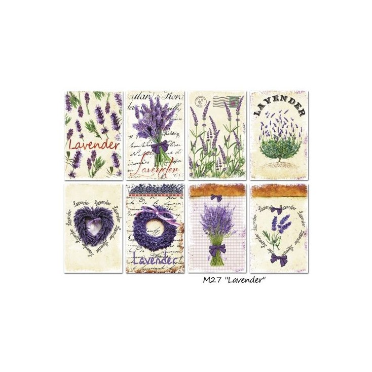 Decorer - Set of mini scrapbooking papers - Lavender
