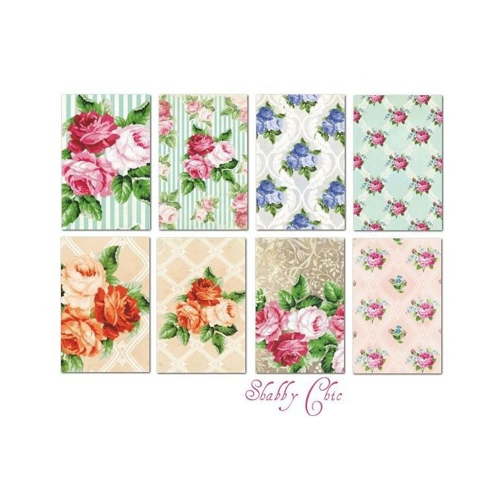 Decorer - Set of mini scrapbooking papers - Shabby chic