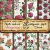 Decorer - Zestaw papierów do scrapbookingu - Vintage roses