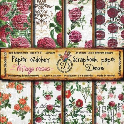 Decorer - Pat of papers - Vintage roses