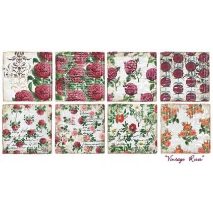 Decorer - Set of scrapbooking papers - Vintage roses