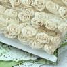 Roses on tulle - beige ecru