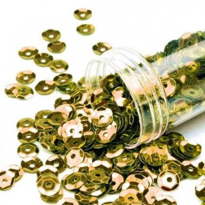 Cekiny łamane w pojemniku - złote