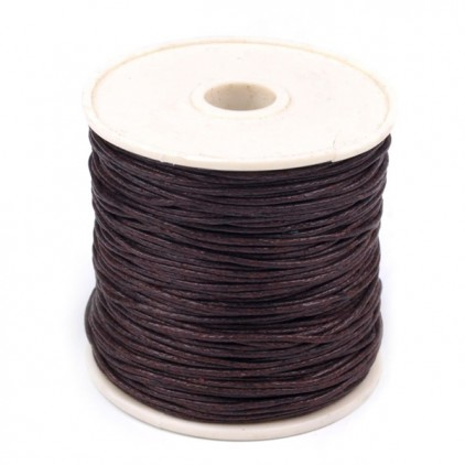 Cotton Waxed Cord - Ø1mm - one spool - brown