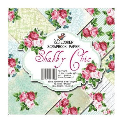 Decorer - Set of scrapbooking papers - Shabby Chic