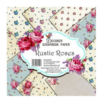 Decorer - Set of scrapbooking papers - Rustic Roses