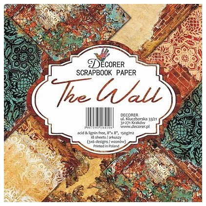 Decorer - Set of scrapbooking papers - The Wall