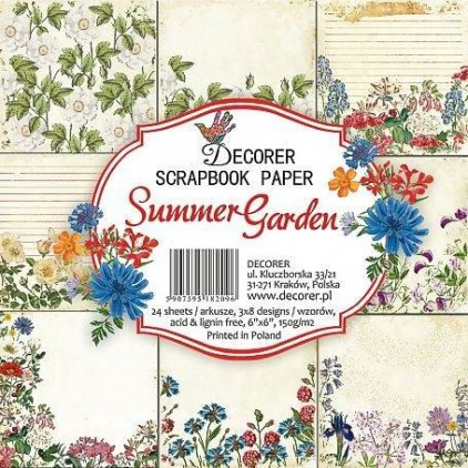 Decorer - Pad of scrapbooking papers - Summer Garden