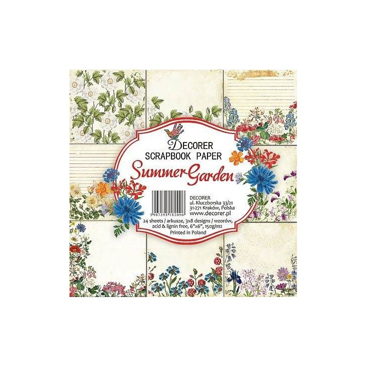 Decorer - Set of scrapbooking papers - Summer Garden