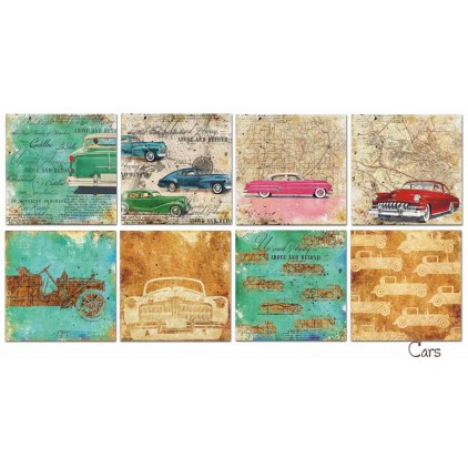 Decorer - Set of scrapbooking papers - Cars