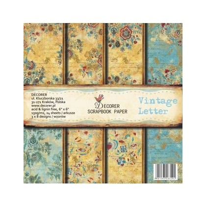 Decorer - Pad of scrapbooking papers - Vintage Letter