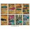Decorer - Set of mini scrapbooking papers - Oldsmobile