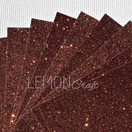 Glitter paper - brown