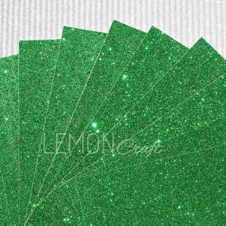 Karton brokatowy - zielony