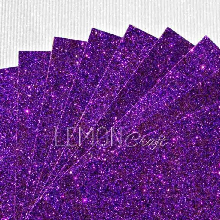 Karton brokatowy - fioletowy