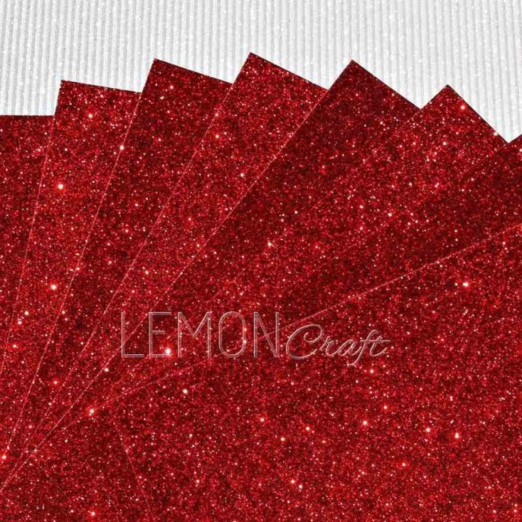Glitter paper - dark red