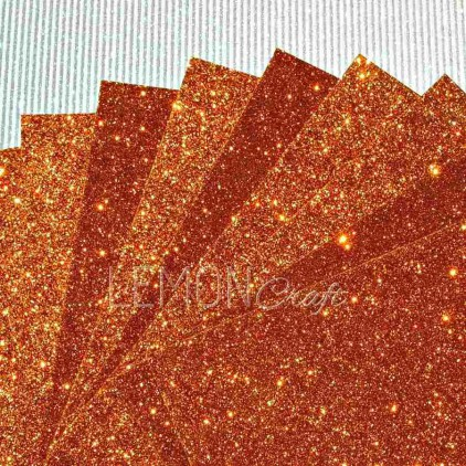 Karton brokatowy - jasnobrązowy