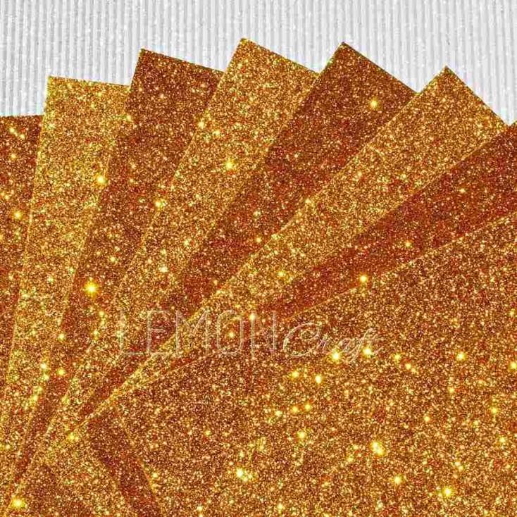 Glitter paper - yellow