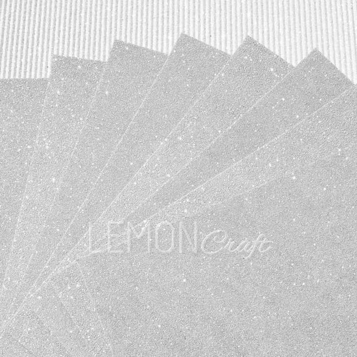 Karton brokatowy - biały