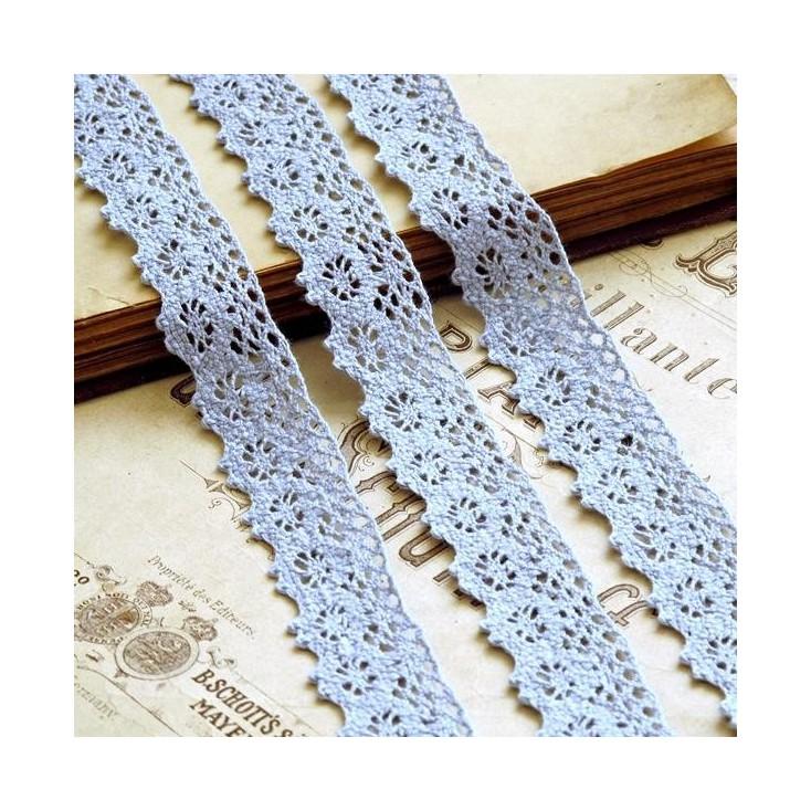Cotton lace - blue - 1 meter