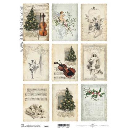 ITD Collection - Papier do scrapbookingu - TAG061