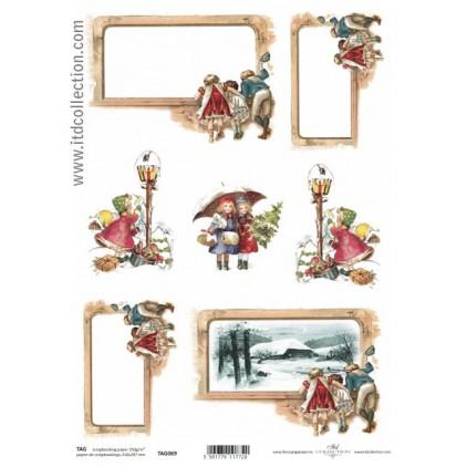 ITD Collection - Papier do scrapbookingu - TAG069
