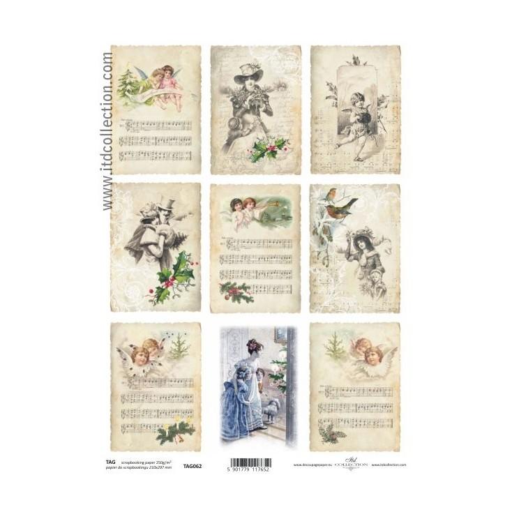 ITD Collection - Papier do scrapbookingu - TAG062