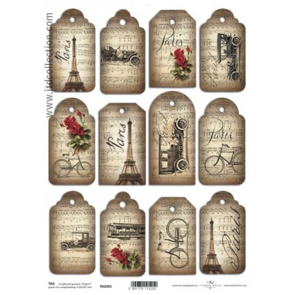 ITD Collection - Scrapbooking paper - TAG003