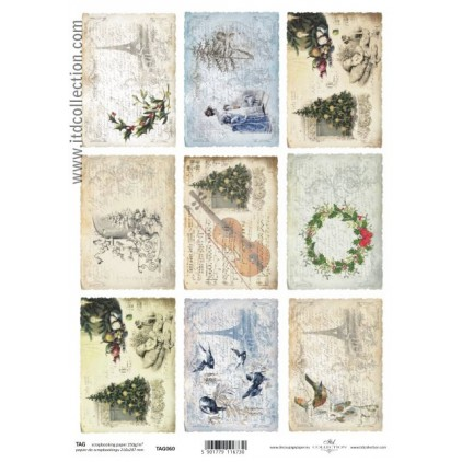 ITD Collection - Scrapbooking paper -  TAG060