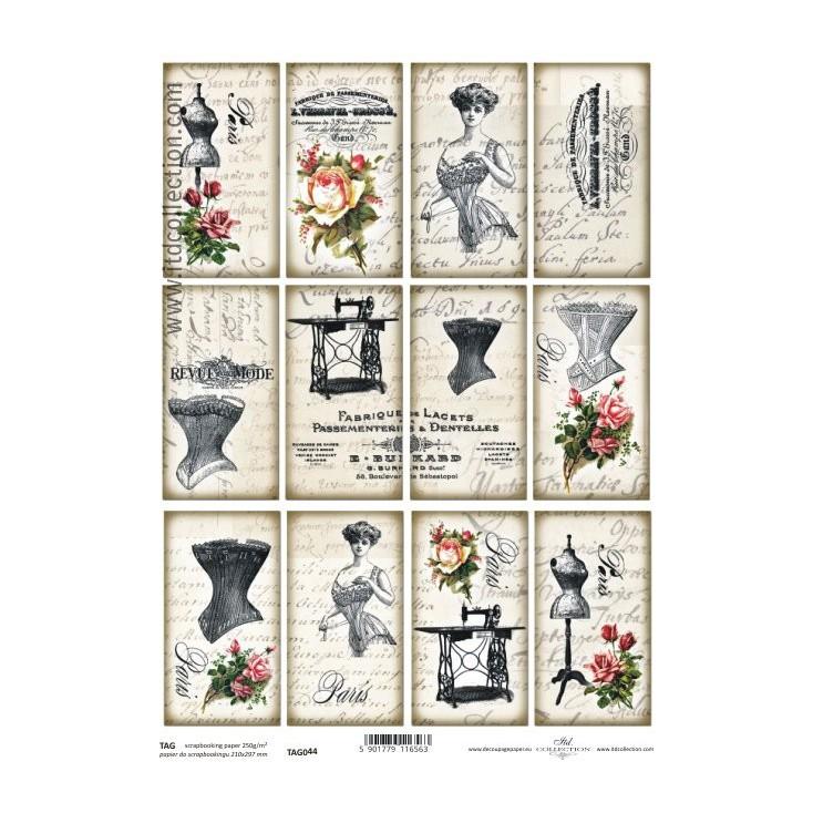 ITD Collection - Papier do scrapbookingu - TAG044