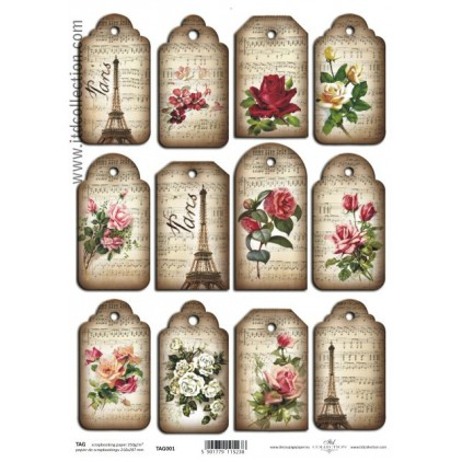 ITD Collection - Scrapbooking paper - TAG001