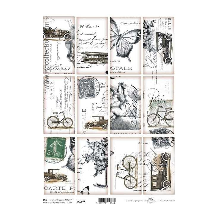 ITD Collection - Scrapbooking paper - TAG051