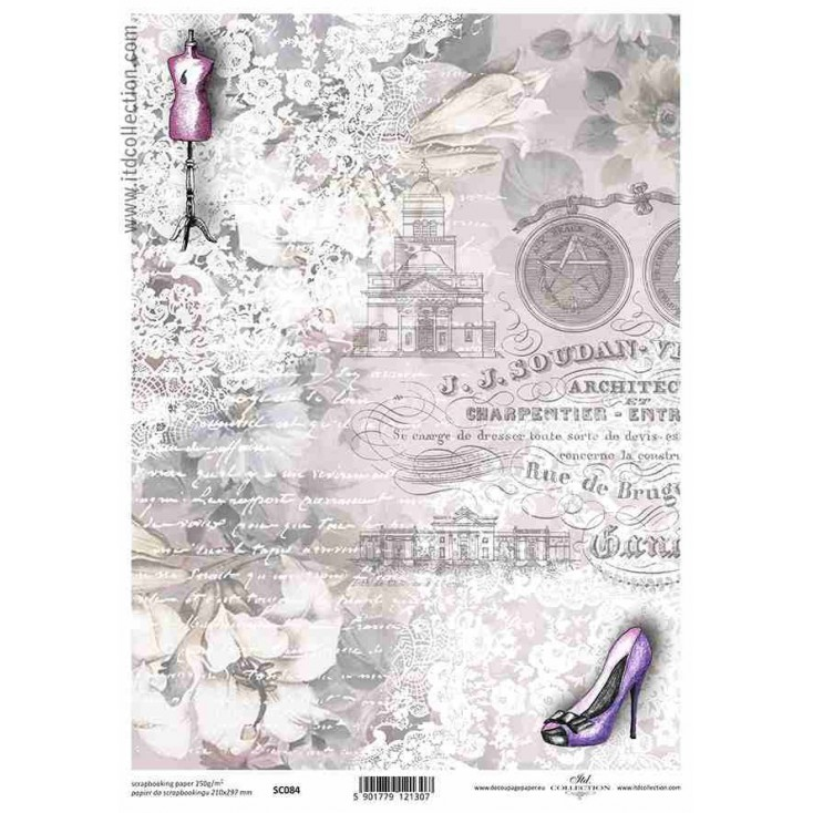 ITD Collection - Scrapbooking paper -  SC084