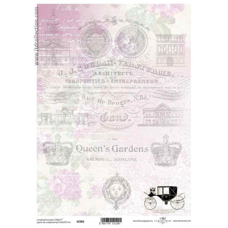 ITD Collection - Scrapbooking paper - SC083