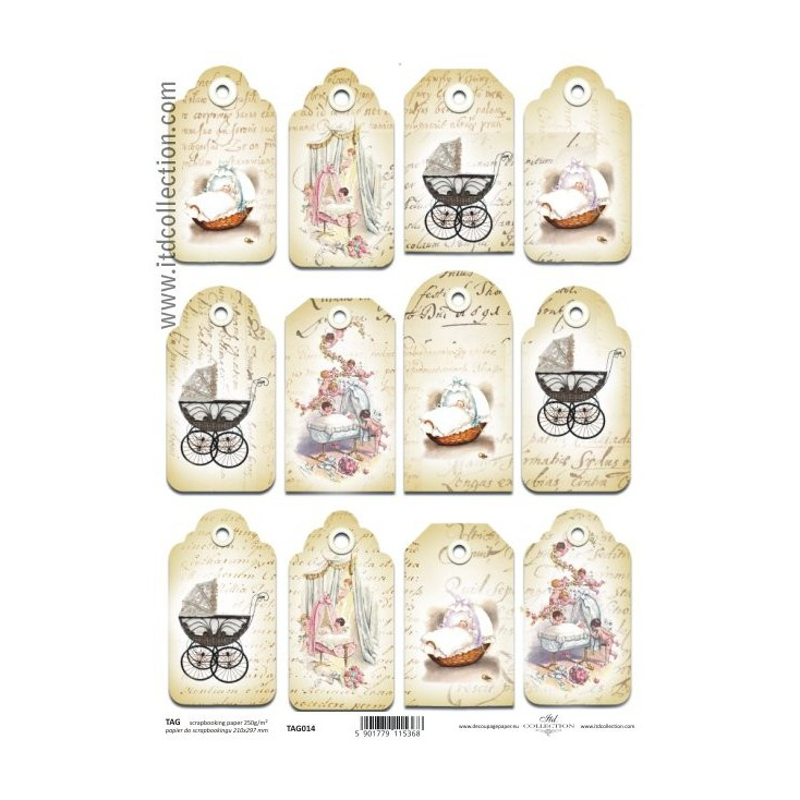 ITD Collection - Scrapbooking paper - TAG014