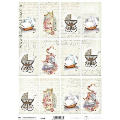 ITD Collection - Scrapbooking paper - TAG041