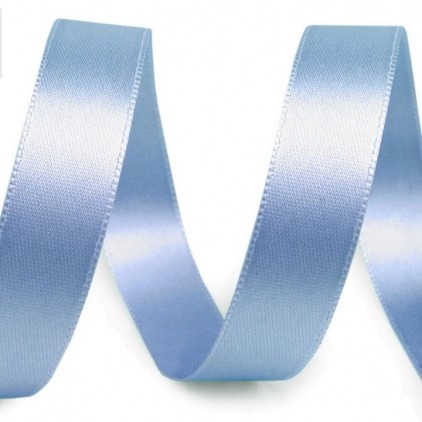 Satin, double-sided ribbon - 1 meter - baby blue