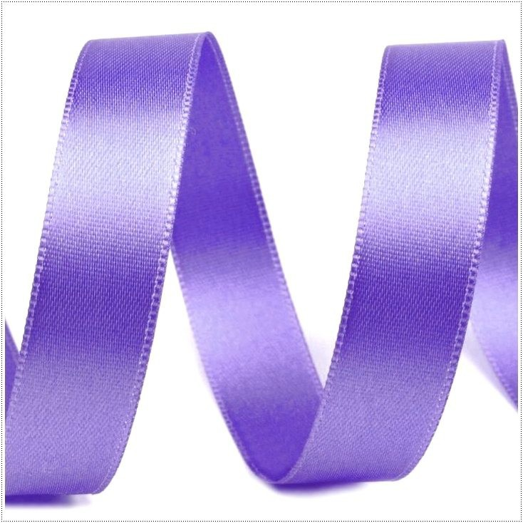 Satin, double-sided ribbon - 1 meter - lilac