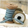 Checkered ribbon - 1 meter - dark green