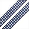 Checkered ribbon - 1 meter - navy blue