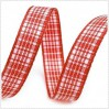 Checkered ribbon - 1 meter - light red