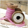 Checkered ribbon - 1 meter - fuchsia