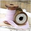 Checkered ribbon - 1 meter - pink
