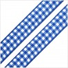 Checkered ribbon - 1 meter - blue