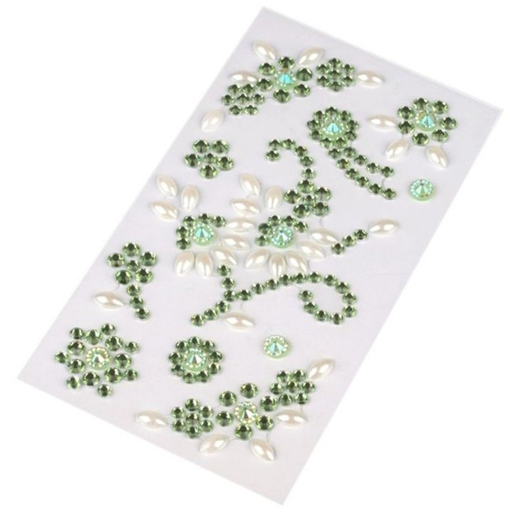 Selfadhesive gems - Green flourishes