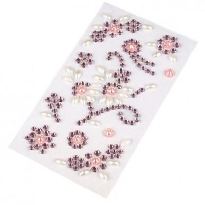 Selfadhesive gems - Pink flourishes